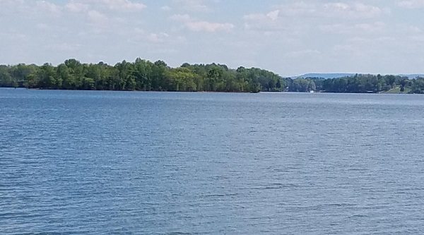 View of Tim's Ford Lake from the Ray Branch Trail