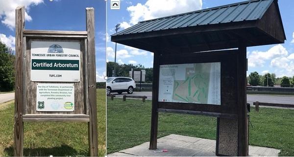 Sign at Tullahoma Arboretum